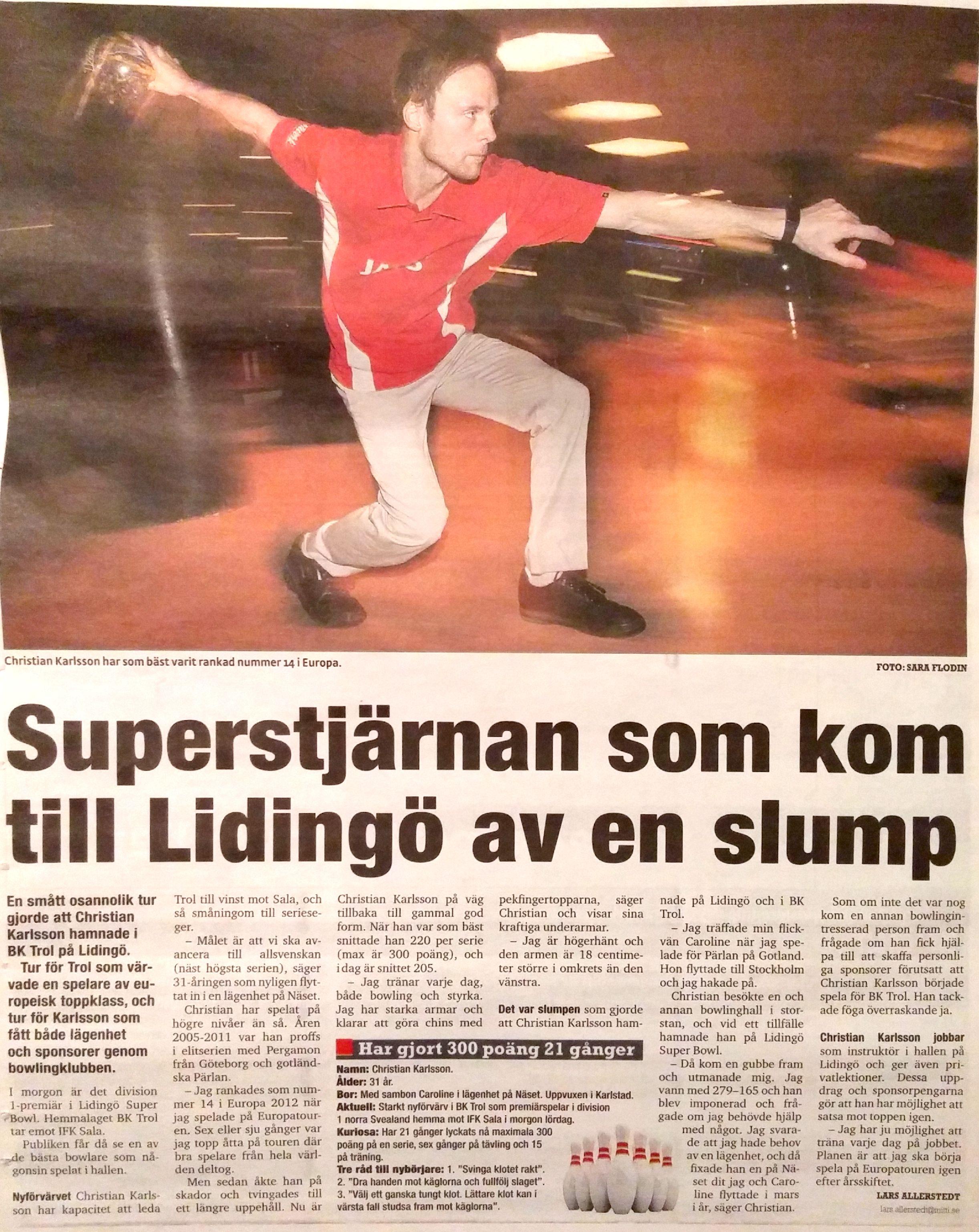 Christian i Lidingö tidning